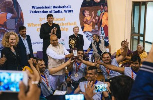 Heads Turn as Wheels Roll at Basketball Championship in Delhi