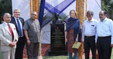 Indian Red Cross Society Honours Henry Dunant by Unveiling his Bust