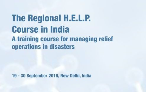 Enrol for the H.E.L.P. Course — A Training to Manage Relief Operations during Health Emergencies