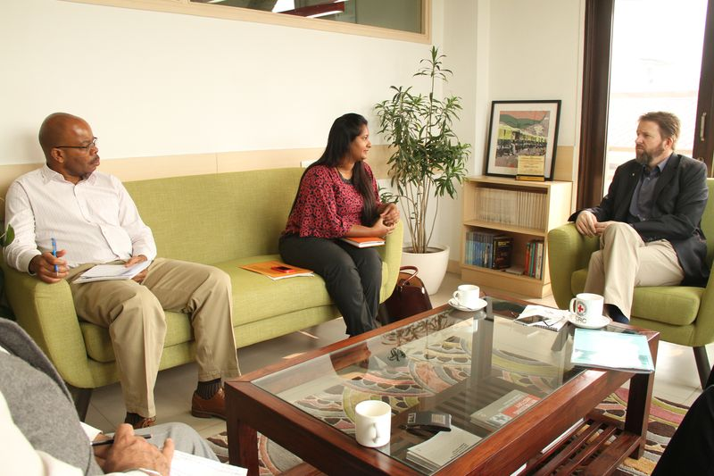 Maldivian Red Crescent Secy-Gen and Head of ICRC Regional Delegation Exchange Notes