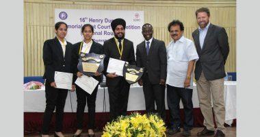 पहली बार रहे निर्णायक प्रतिभागी, पंजाब विश्वविद्यालय, हेनरी डूनांट मूट कोर्ट प्रतियोगिता में विजेता के रूप में उभरे