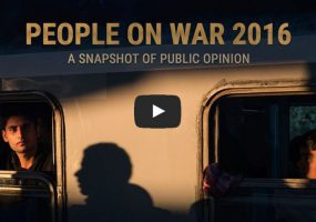 A Snapshot of What People Think about War in 2016
