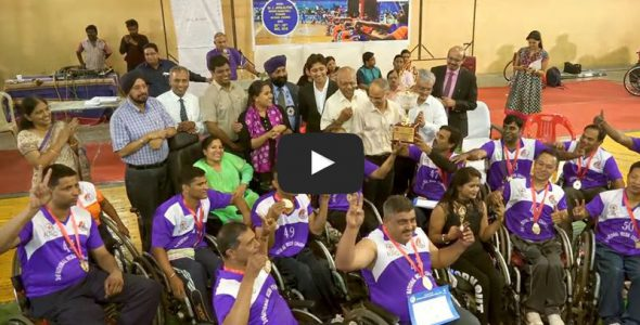 Basketball on Wheels — Maharashtra Lift National Championship Trophy for the 3rd Time