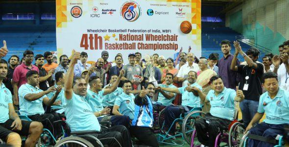 व्हीलचेयर बास्केटबॉल को प्रोत्साहित किया वीरेंद्र सेहवाग ने — तमिलनाडु और महाराष्ट्र रही विजेता टीमें