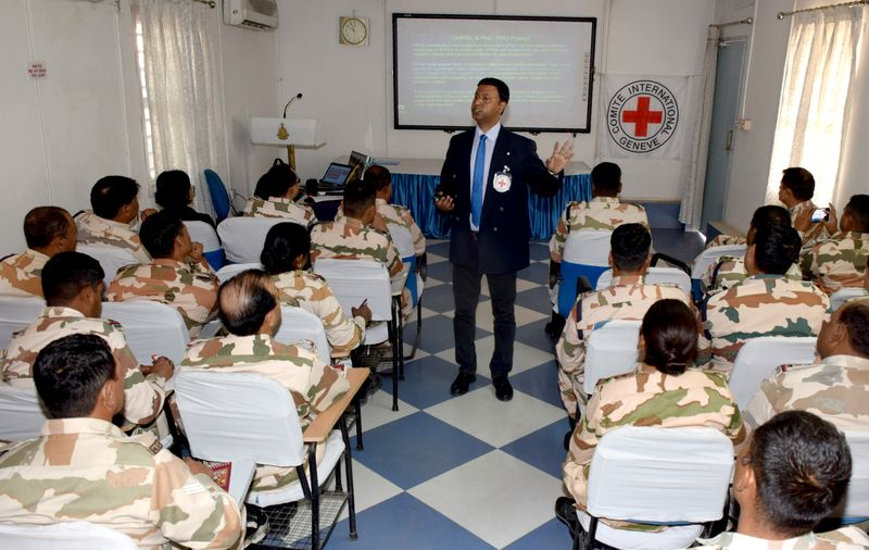 ICRC Briefing to ITBP Troops Embarking on DRC Peacekeeping Mission