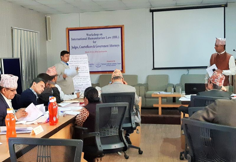 ICRC and Nepal Judicial Academy hold IHL Workshop for the Judiciary