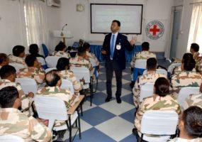आईसीआरसी ने डीआरसी शांति नियंत्रण मिशन पर शुरू होने वाले आईटीपीबी सैनिकों के लिए ब्रीफिंग का आयोजन किया