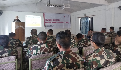 Nepal Government and ICRC organise training on Law of Armed Conflict