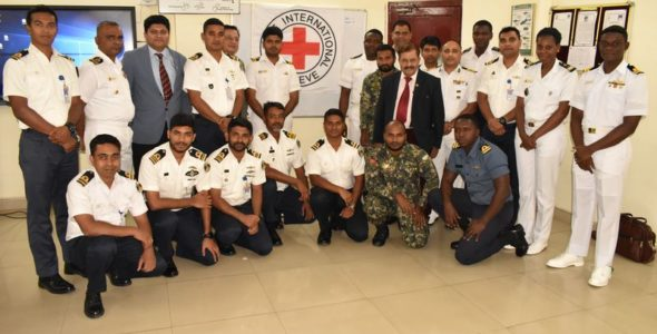 Officers from seven countries talk IHL