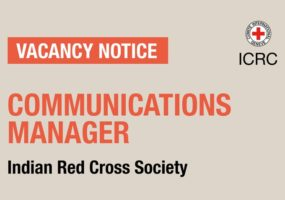 Vacancy notice for Communications Manager – Delhi