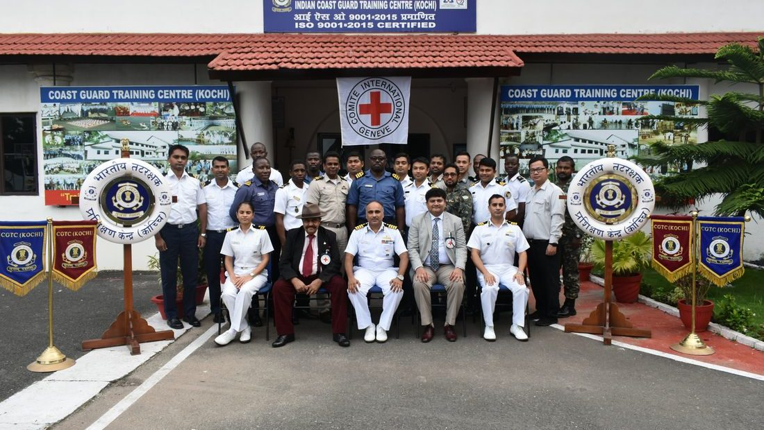 IHL dissemination for international officers at Coast Guard Training Centre Kochi