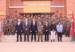 Pre-deployment briefing with the Nepali Army peacekeepers