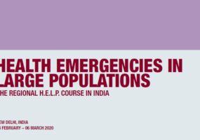 Applications Invited for 4th Regional HELP Course in New Delhi