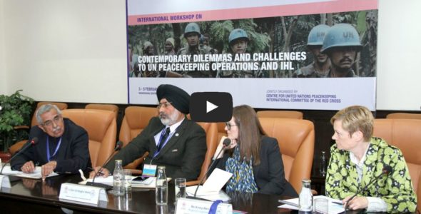 Experts from 19 countries discuss challenges to peacekeeping operations and IHL