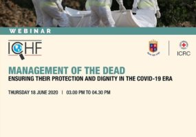 COVID-19: ICRC and GFSU hold Webinar on Management of the Dead