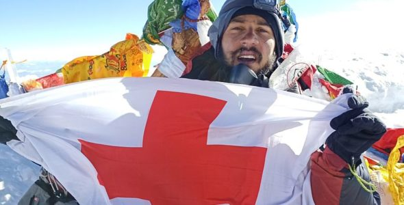 Red Cross reaches the highest point on Earth