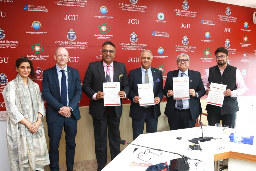 ICRC signs MoU with O P Jindal Global University