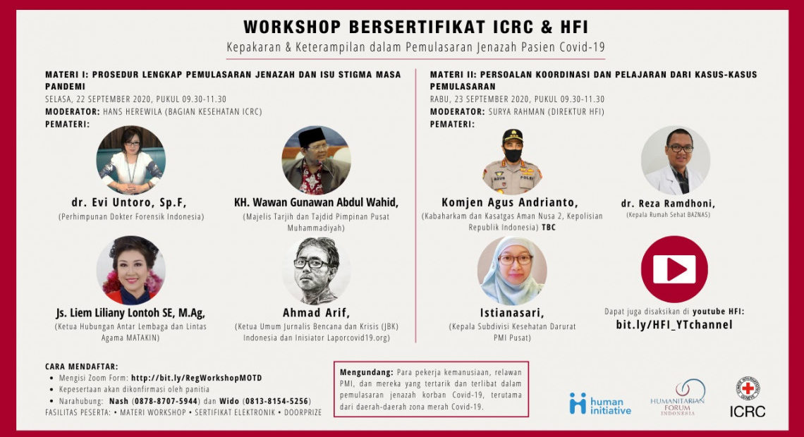 Indonesia: Online Workshop on Management of the Dead for COVID-19 Patients