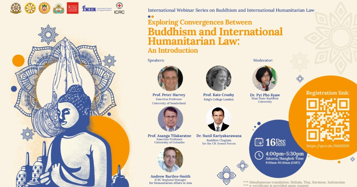"Introductory Webinar: ""Exploring Convergences Between Buddhism and International Humanitarian Law"""