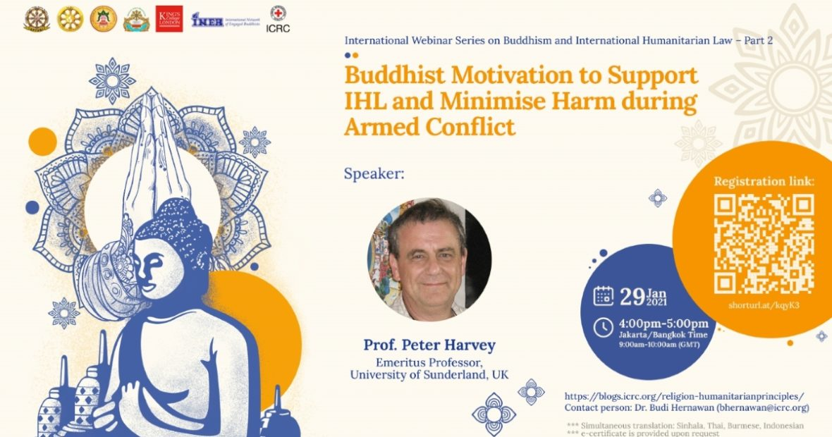 Webinar: Buddhist Motivation to Support IHL and Minimise Harm during Armed Conflict