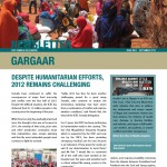 Gargaar Newsletter  - Issue No. 1 September 2012 (English)