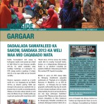 Gargaar Newsletter  - Issue No. 1 September 2012 (Somali)