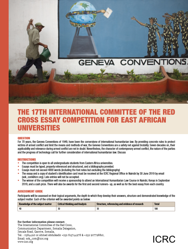 The 17th ICRC Essay Competition for East African