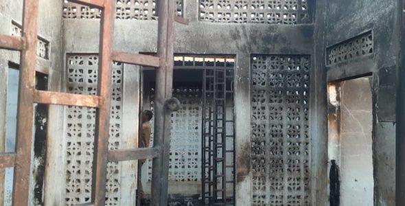 Arson attack destroys Red Crescent clinic