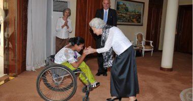 กัมพูชา-สมาชิกทีมบาสเก็ตบอลคนพิการหญิงเข้าเฝ้าพระราชินีโมนิก