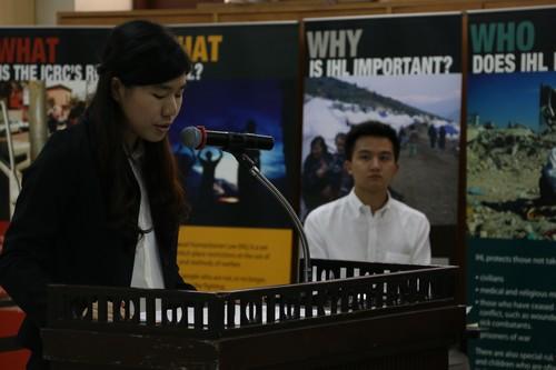 นักศึกษาจากทีมฝ่ายโจทก์คนที่สองขึ้นให้การต่อศาล