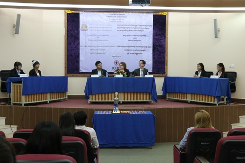 การแข่งขันศาลจำลองในกฎหมายมนุษยธรรมระหว่างประเทศรอบชิงชนะเลิศที่ประเทศกัมพูชา