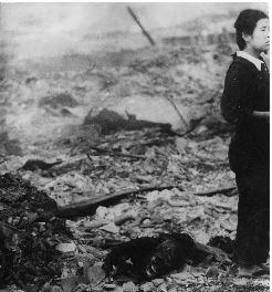 สงครามโลกครั้งที่สอง-สภาพเมืองนางาซากิหลังถูกระเบิดปรมาณู