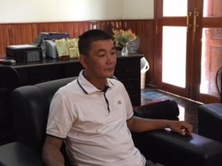 อูเอตะ เทรุฮิโกะ เจ้าของบริษัทกาแฟอูเอดะในกรุงพนมเปญกล่าวว่าการที่เห็นผู้พิการมีชีวิต