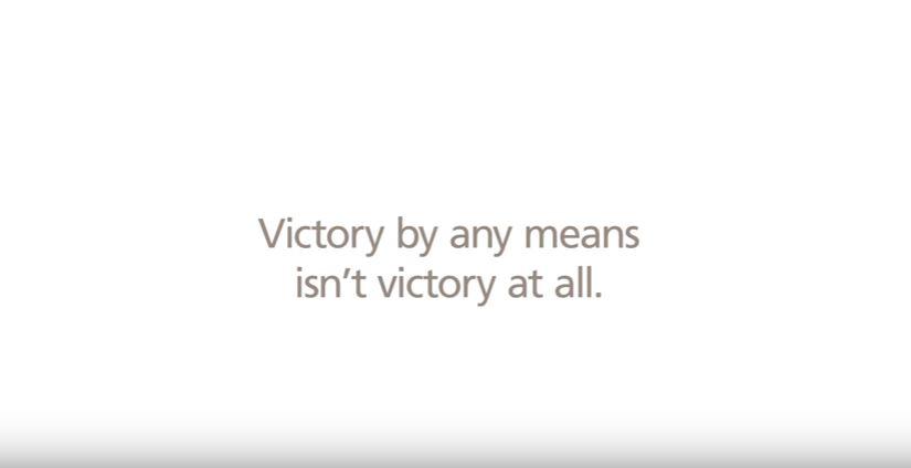 ชัยชนะที่ไร้มนุษยธรรมไม่ใช่ชัยชนะที่แท้จริง