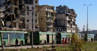 บันทึกภาพถ่ายการอพยพประชาชนออกจากพื้นที่ฝั่งตะวันออกของเมืองอเลปโป ประเทศซีเรีย