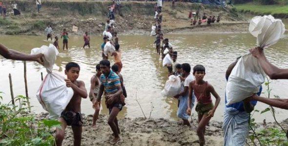 ICRC ให้ความช่วยเหลือประชาชนในเมียนมาร์และบังคลาเทศ