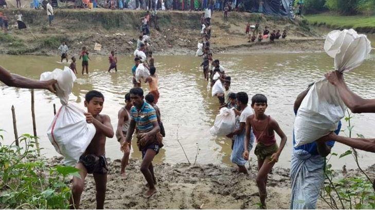 ICRC ให้ความช่วยเหลือแก่ประชาชนในเมียนมาร์และบังคลาเทศ